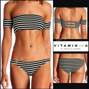 Vitamin A Bikini Set Havana Luciana stripe L